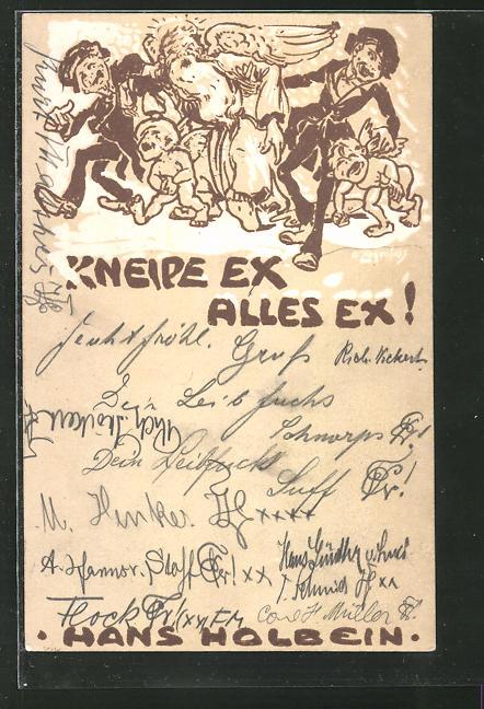 Künstler-AK sign. Ziegenfuss: