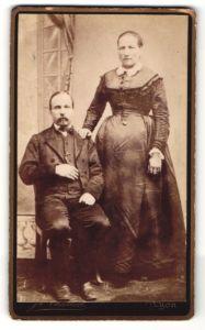 Fotografie J. Challiol, Lyon, Portrait bürgerliche Eheleute
