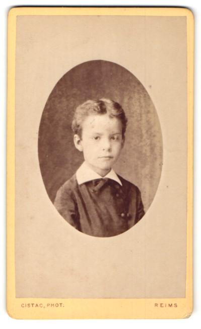 Fotografie Cistac, Reims, Portrait Knabe mit Mittelscheitel