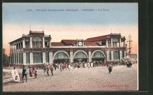 AK Dakar, La Gare, Motiv vom Bahnhof