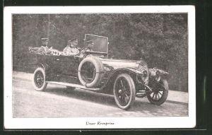 AK Kronprinz Wilhelm von Preussen im Auto