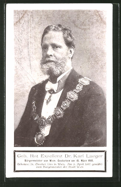 AK Bürgermeister Dr. Carl Lueger mit Ratskette
