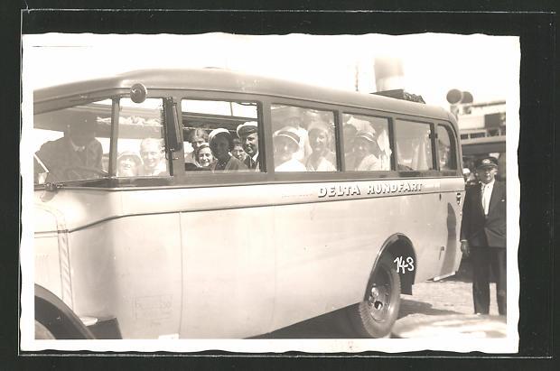AK Bus mit Gästen startet zu einer Rundfahrt,