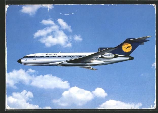 AK Lufthansa Boeing 727 Europa Jet am Himmel, Passagierflugzeug