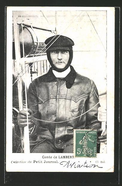 AK Comte de Lambert, Pilot, Flieger