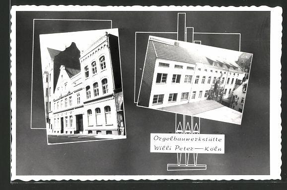AK Köln-Mülheim, Orgelbauwerkstätte Willi Peter, Mülheimer Freiheit 113-115