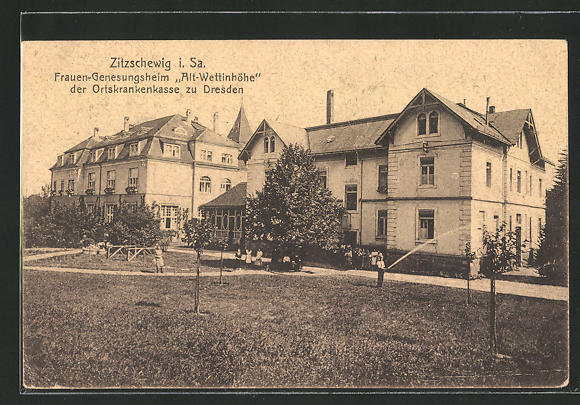 AK Zitzschewig i. Sa., Frauen-Genesungsheim