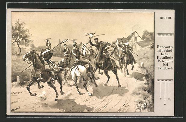 AK Rencontre mit feindlicher Kavallerie-Patrouille bei Trimbach