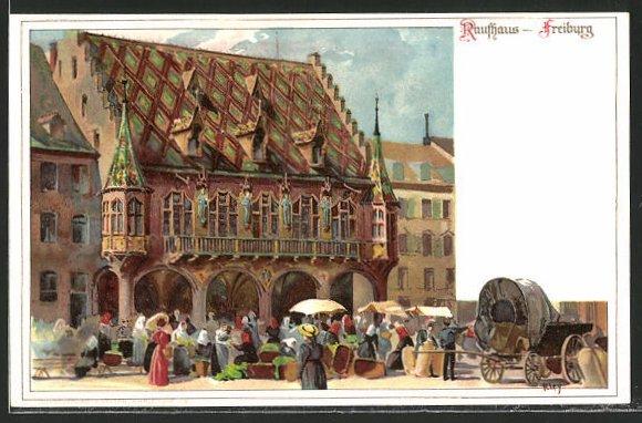 Künstler-AK Heinrich Kley: Freiburg, Kaufhaus