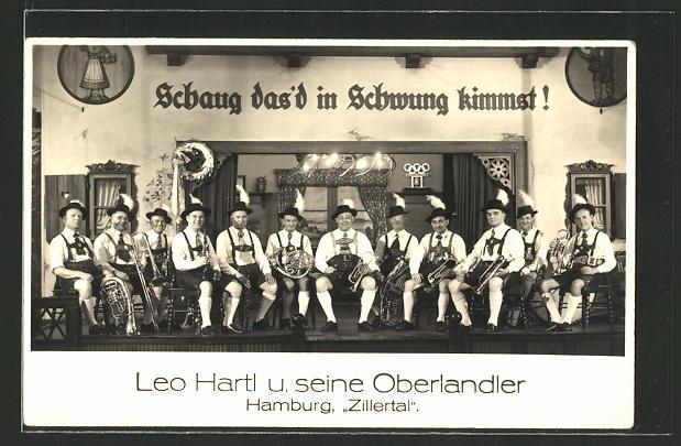 AK Hamburg, Zillertal, Leo Hartl und seine Oberlandler