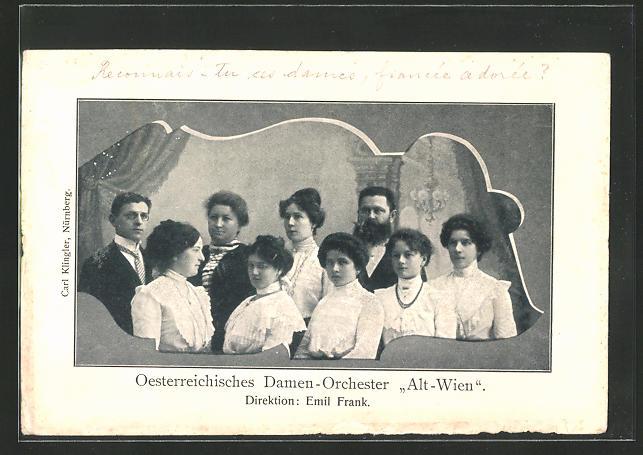 AK Österr. Damenorchester Alt-Wien, Dir. Emil Frank