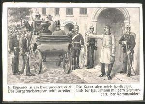 AK Berlin, In Köpenick ist ein Ding passiert..., Hauptmann von Köpenick