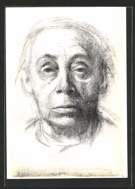 Künstler-AK Käthe Kollwitz: Selbstbildnis von 1937