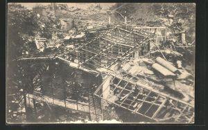 AK Witten, Trümmer der Roburitfabrik nach Explosion von 1906