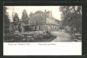 AK Oberneuland, Gasthaus Höpkens Ruh mit Gartenlokal