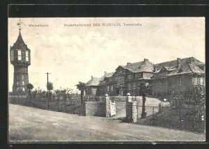 AK Bad Oldesloe, Wasserturm und Kinderheilanstalt auf der Turmstrasse