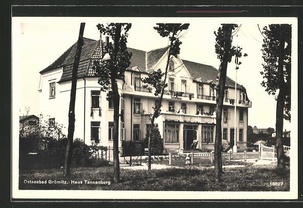 AK Grömitz Ostsee Blick zum Strandhotel v Theodor