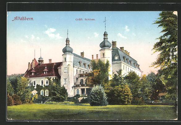 AK Altdöbern, Blick zum Gräfl. Schloss