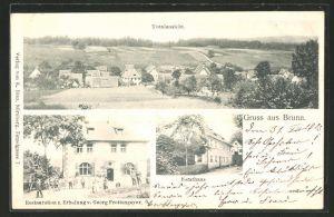 AK Brunn, Gasthof zur Erholung, Forsthaus, Totalansicht