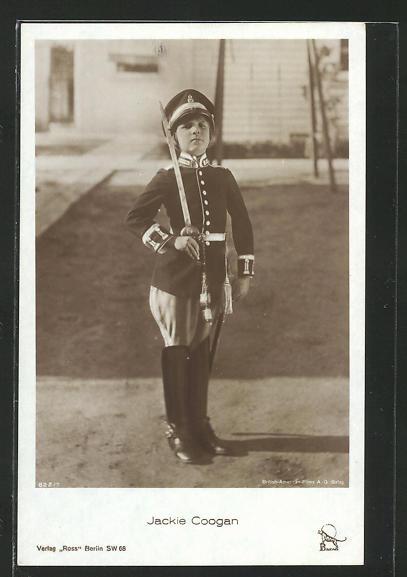 AK Schauspieler Jackie Coogan im Kostüm eines Soldaten
