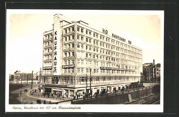 AK Berlin, Kaufhaus der HO am Alexanderplatz