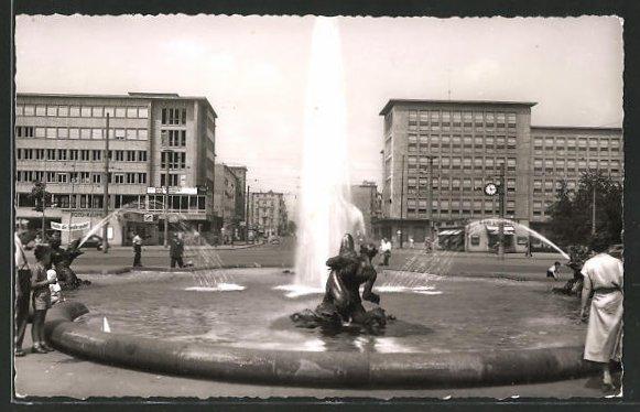 AK Mannheim, Blick in die Planken vom Wasserturm