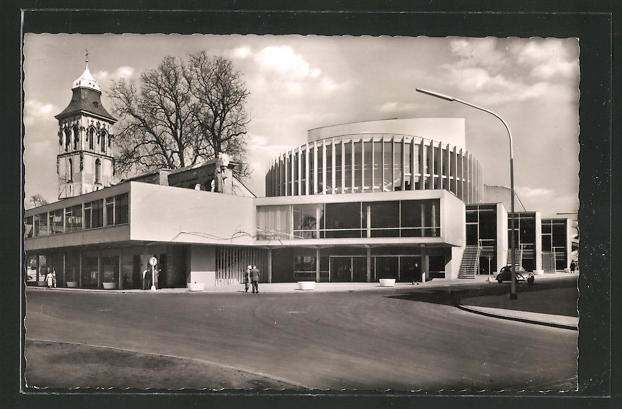 AK Münster /Westf., Blick zum Theater