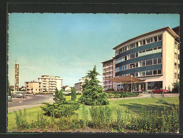 AK Offenbach /Main, Ketteler Krankenhaus und Markuskirche
