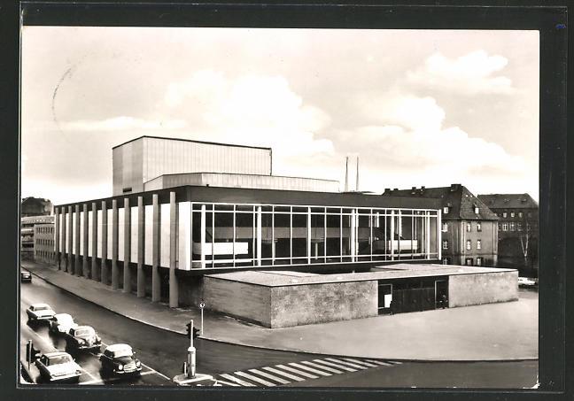 AK Würzburg, Blick zum Stadttheater