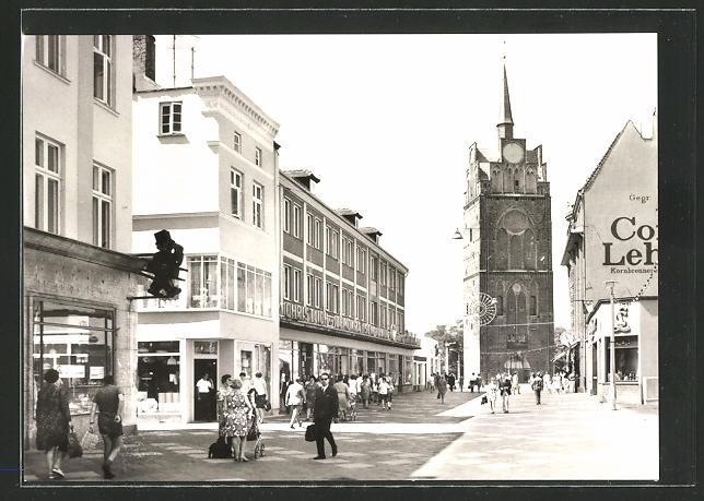 AK Rostock, Kröpeliner Strasse und Kröpeliner Tor
