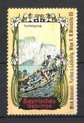 Reklamemarke Bayrisches Gebirge, Verfolgung