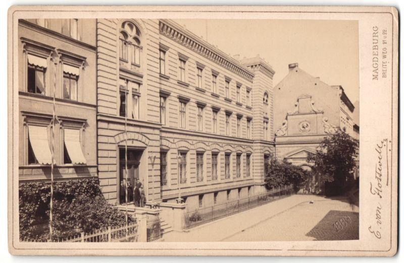 Fotografie E. von Flottwell, Magdeburg, Ansicht Magdeburg, Reichsbank in der Grossen Münzstrasse