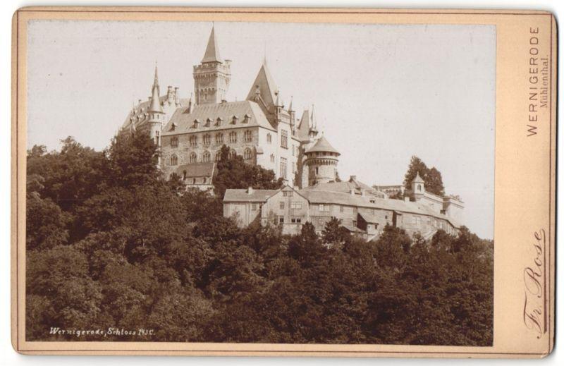 Fotografie Fr. Rose, Wernigerode, Ansicht Wernigerode, Partie am Schloss
