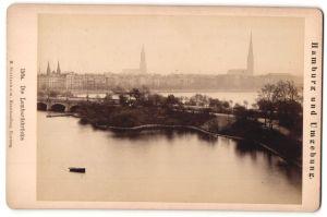 Fotografie M. Stettenheim, Hamburg, Ansicht Hamburg, Partie an der Lombardsbrücke