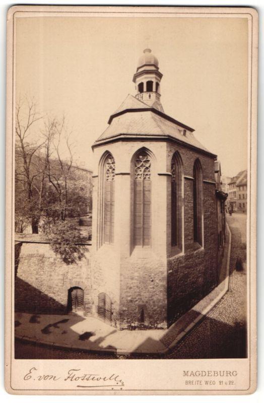 Fotografie E. von Flottwell, Magdeburg, Ansicht Magdeburg, Partie am Kloster
