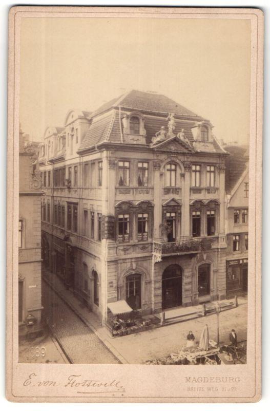 Fotografie E. von Flottwell, Magdeburg, Ansicht Magdeburg, das Lück'sche Haus am alten Markt