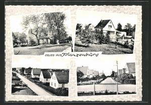 AK Franzenburg, verschiedene Orts- und Strassenansichten