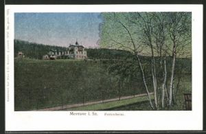 Luna-AK Meerane i. Sa., Blick zum Ferienheim