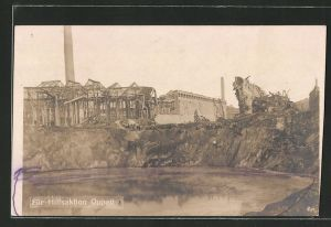AK Oppau, Sprengtrichter, Explosion 21.9.1921
