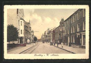 AK Gevelsberg i. W., Blick in die Mittelstrasse