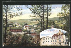 AK Oberbrügge, Hotel Süderland, Ortspanorama