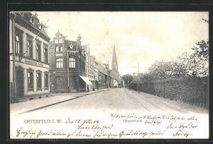 AK Osterfeld i. W., Blick in die Hauptstrasse
