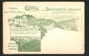Lithographie Schaberg, Restaurant zur Kaiser Wilhelm-Brücke