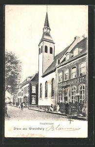 AK Cranenburg, Hotel zur Post in der Hauptstrasse