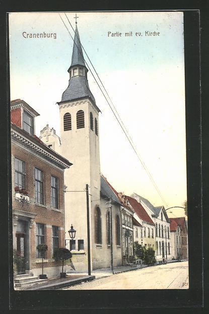 AK Cranenburg, Partie mit der evang. Kirche