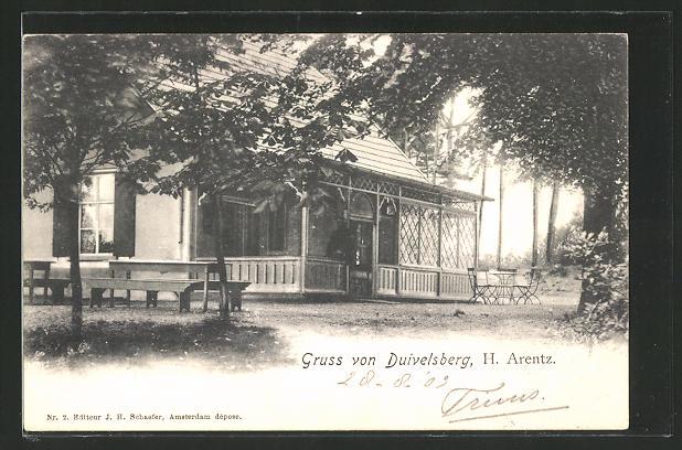 AK Cranenburg, Partie am Restaurant Duivelsberg von H. Arentz