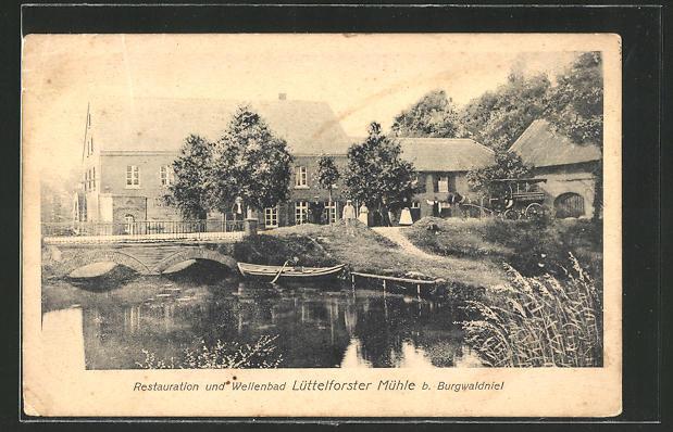 AK Burgwaldniel, Gasthaus Lüttelforster Mühle