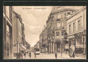 AK Mönchen Gladbach, Hindenburgstrasse mit Strassenbahn