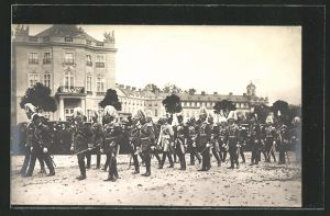 AK Beisetzung des Grossherzogs Friedrich von Baden am 7.10.1907, Trauerzug