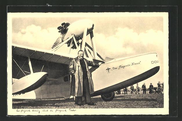 AK Dornier-Wasserflugzeug